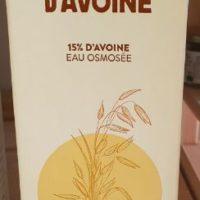 Boisson lait avoine