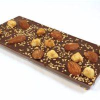 Chocolat noir amandes (tablette 100g)