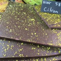 Chocolat noir écorce de citron confite (tablette 100g)