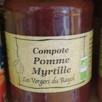 Compotes Pomme Myrtilles 660g